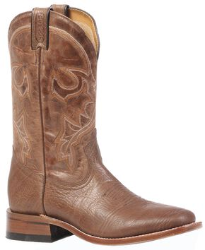 Boulet Stockman Cowboy Boots - Square Toe, Brown, hi-res