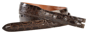 Lucchese Men's Sport Rust Glazed Alligator Leather Belt, Rust, hi-res