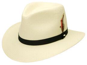 Black Creek Toyo Straw Ivory Men's Hat, Ivory, hi-res