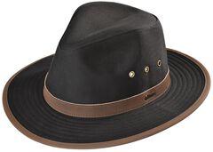 Outback Trading Co. Black Madison River UPF50 Sun Protection Oilskin Hat, , hi-res