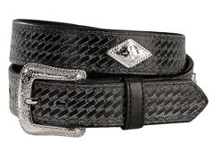 Exclusive Gibson Trading Company Kids' Basketweave Concho Belt, , hi-res