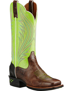 Ariat Brush Country Lime Catalyst Prime Cowgirl Boots - Square Toe, , hi-res
