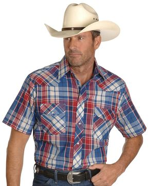 Wrangler Assorted Classic Shirts - Tall, Plaid, hi-res