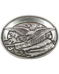Nocona Bald Eagle & American Flag Buckle, , hi-res