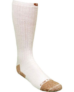 Carhartt White Full Cushion Steel-Toe Cotton Work Boot Socks - 2 Pack, , hi-res