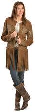 Scully Long Fringe Suede Coat, Brown, hi-res