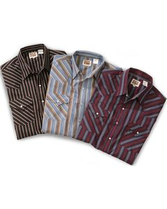 Ely Assorted Plaid or Stripe Short Sleeve Western Shirt - Big, Tall, Big/Tall, , hi-res