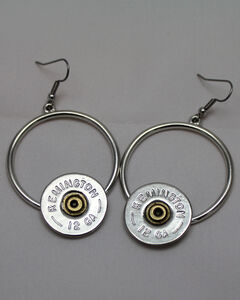 SouthLife Supply Women's Florence Circle Dangle Shotshell Earring in Traditional Silver, , hi-res