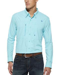 Ariat Radiance Blue Venttek Long Sleeve Shirt, , hi-res