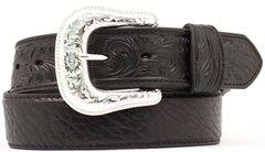 Bullhide & Tooled Leather Belt, , hi-res
