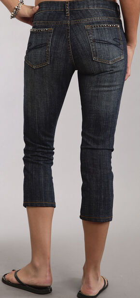 Stetson 541 Stovepipe Cropped Studded Jeans, Denim, hi-res