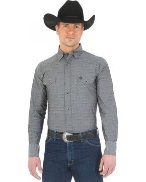 Wrangler George Strait Troubadour Black Diamond Print Western Shirt, Black, hi-res