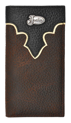 Justin Brown Bull Rodeo Leather Wallet, Brown, hi-res