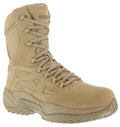 "Reebok Men's Stealth 8"" Lace-Up Side-Zip Work Boots, , hi-res"