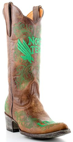 Gameday University of North Texas Cowgirl Boots - Pointed Toe, , hi-res
