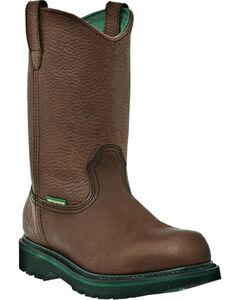 John Deere Men's Waterproof Wellington Work Boots - Steel Toe, , hi-res