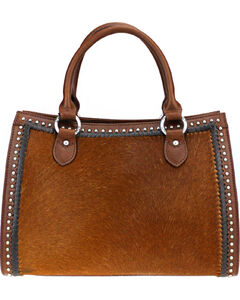 Montana West Brown Delila 100% Genuine Leather Hair-On Hide , , hi-res