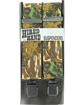 Hired Hand Mossy Oak Breakup Camouflage Suspenders, Mossy Oak, hi-res