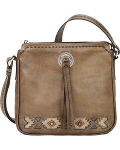 American West Brown Native Sun Crossbody Bag, , hi-res