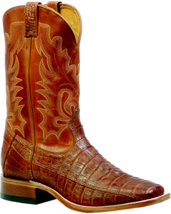 Boulet Barnwood 3-Piece Caiman Belly Boots - Square Toe, , hi-res