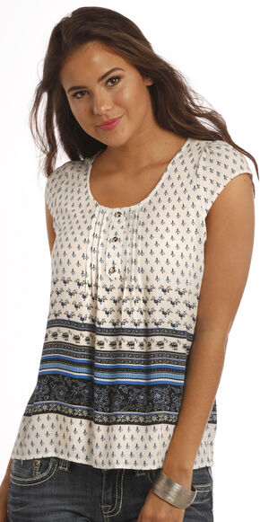 Panhandle Slim Women's White Lace Back Shirt, White, hi-res