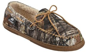 Double Barrel Men's Camouflage Moccasins, Camouflage, hi-res
