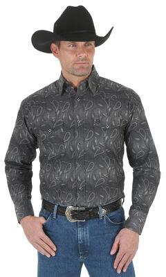 Wrangler George Strait Troubadour Stripe Western Shirt - Big and Tall , , hi-res