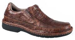 Roper Men's Performance Croc Print Slip-On Shoes, , hi-res