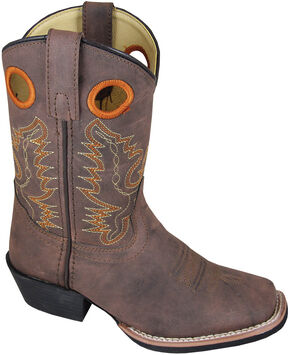 Smoky Mountain Youth Boys' Memphis Western Boots - Square Toe, Brown, hi-res