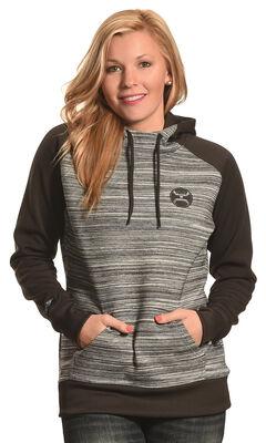 Hooey Women's Black and Grey Raglan Hoodie , , hi-res