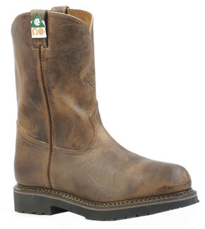 Boulet Hillbilly Golden Work Boots - Steel Toe, Tan, hi-res