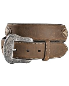 Leather Overlay String Lace Concho Belt, , hi-res
