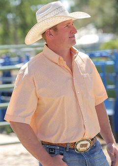 Cinch Men's Gold Print Short Sleeve Shirt, , hi-res