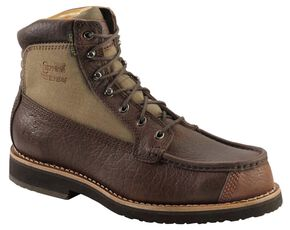 "Chippewa Waterproof Bison 6"" Lace-Up Work Boots - Round Toe, Briar, hi-res"