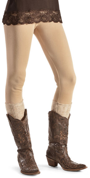 Others Follow Women's Boot Sock Leggings , Parchment, hi-res