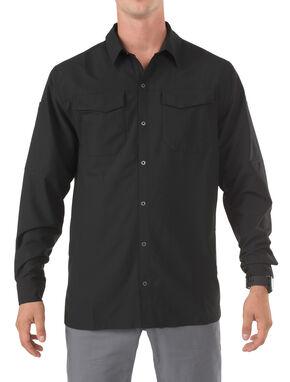 5.11 Tactical Freedom Flex Woven Long Sleeve Shirt, Black, hi-res