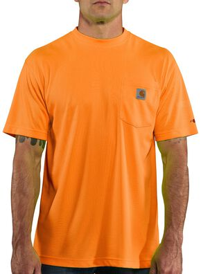 Carhartt Force Color-Enhanced T-Shirt - Big & Tall, Orange, hi-res
