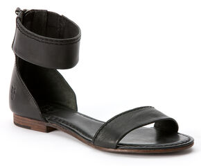 Frye Carson Ankle Zip Sandals, Black, hi-res