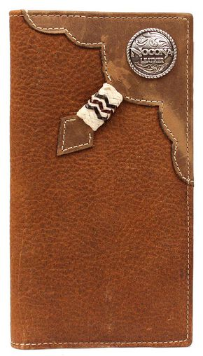 Rodeo Rawhide Lacing & Logo Concho Rodeo Wallet, Copper, hi-res