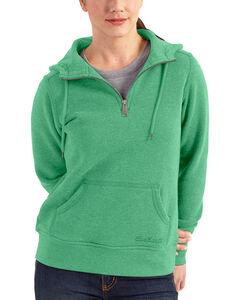 Carhartt Women's Light Green Clarksburg Quarter-Zip Sweatshirt, , hi-res