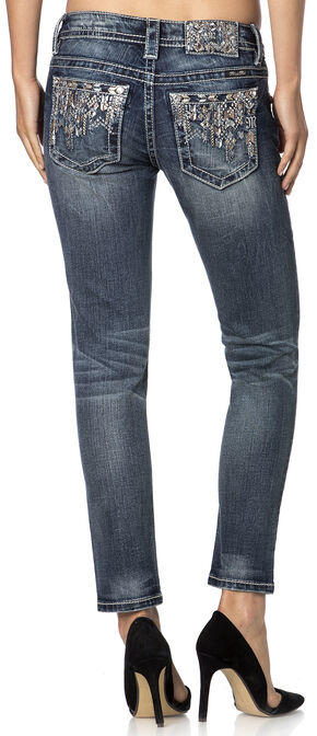 Miss Me Women's Aim Your Arrow Skinny Jeans, Denim, hi-res