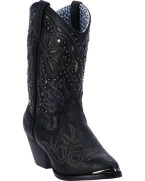 Dingo Annabelle Women's Retro Western Boots - Pointed Toe, Black, hi-res
