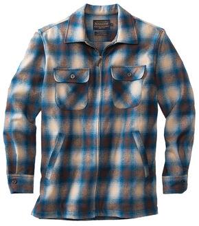Pendleton Men's Tan and Blue Brightwood Zip Jacket, Multi, hi-res