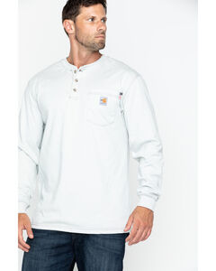 Carhartt Flame Resistant Long Sleeve Work Henley Shirt - Big & Tall, , hi-res