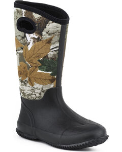 Women's Roper Barnyard Camo Neoprene Boots, , hi-res
