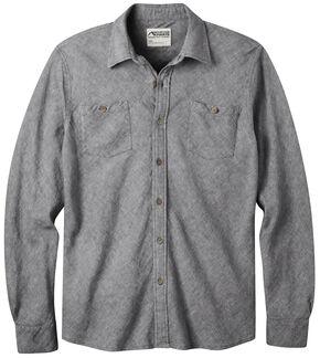Mountain Khakis Men's Navy Yak Herringbone Shirt, Navy, hi-res