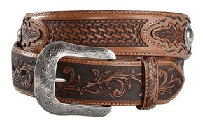 Tony Lama Ol' Wrangler Leather Belt, Tan, hi-res