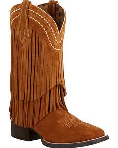 Ariat Fringe Cowgirl Boots - Square Toe , , hi-res