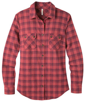 Mountain Khakis Women's Dusty Rose Peaks Flannel Shirt , Pink, hi-res