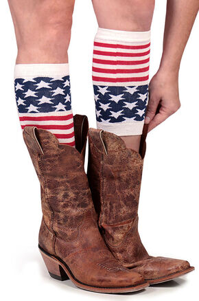 Shyanne Women's American Flag Boot Cuffs, Multi, hi-res